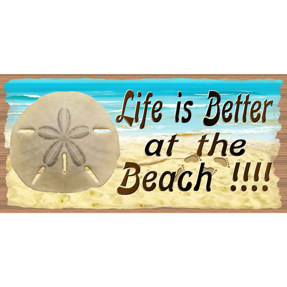 Wood signs life is better at the beach gs 387 tropical for At the beach decor