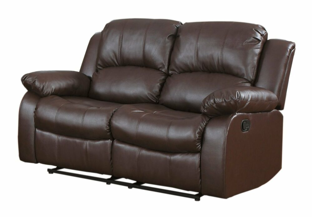 traditional brown love seat 2