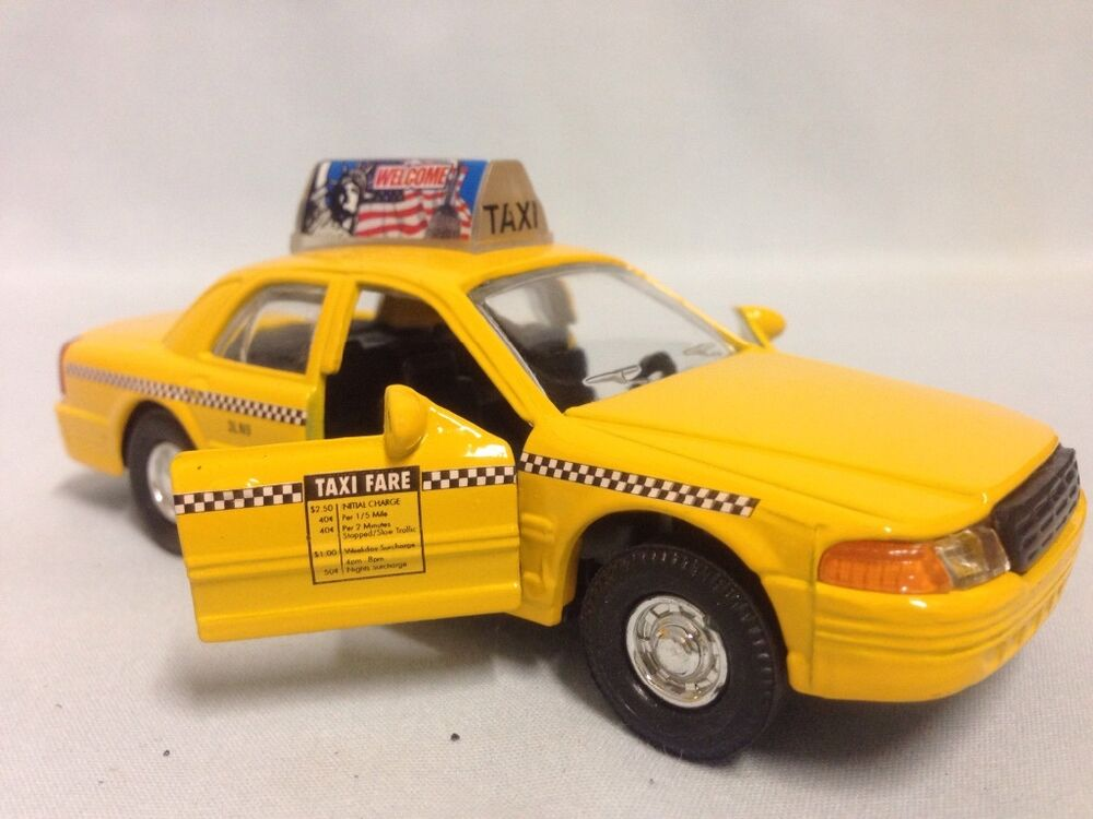 City yellow cab taxi car 5 diecast pull back and go for Schuhschrank yellow cab