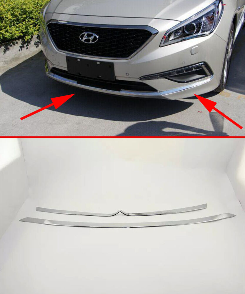Front Molding Cover Trim For 2015 2017 Hyundai Sonata Mk9