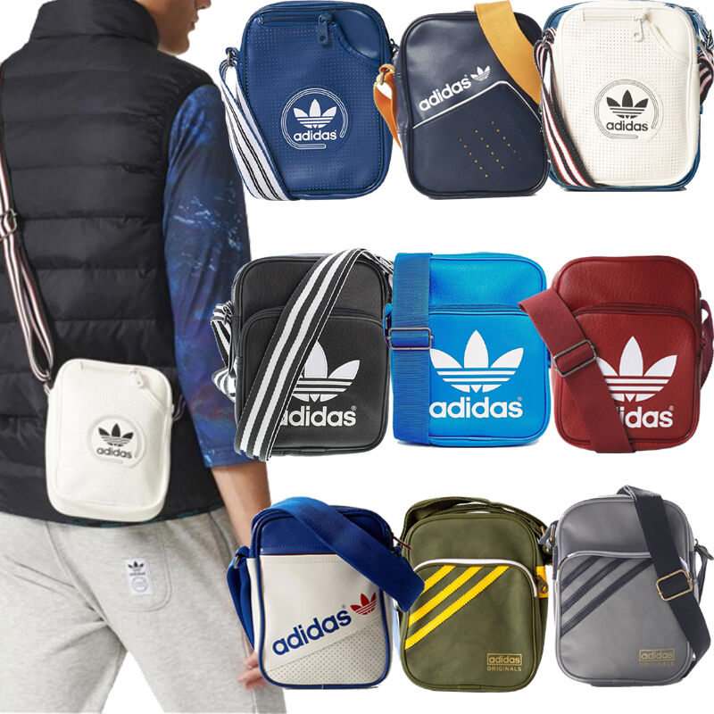 f68bf3288088 Details about Adidas Originals School Bags - Mens Boys Girls Adidas Mini  Bags Shoulder Bags