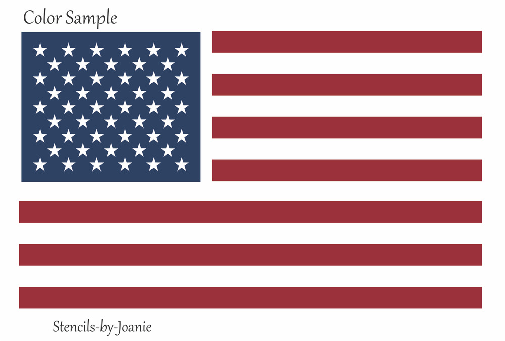 This is a graphic of Epic American Flag Star Template Printable