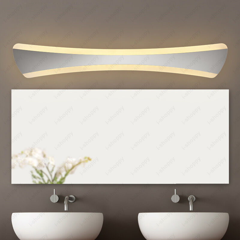 Crystal Torch Bedroom Wall Lamp Bathroom Mirror Front Wall: 14W LED SMD Wall Sconces Lamp Acrylic Makeup Mirror Front