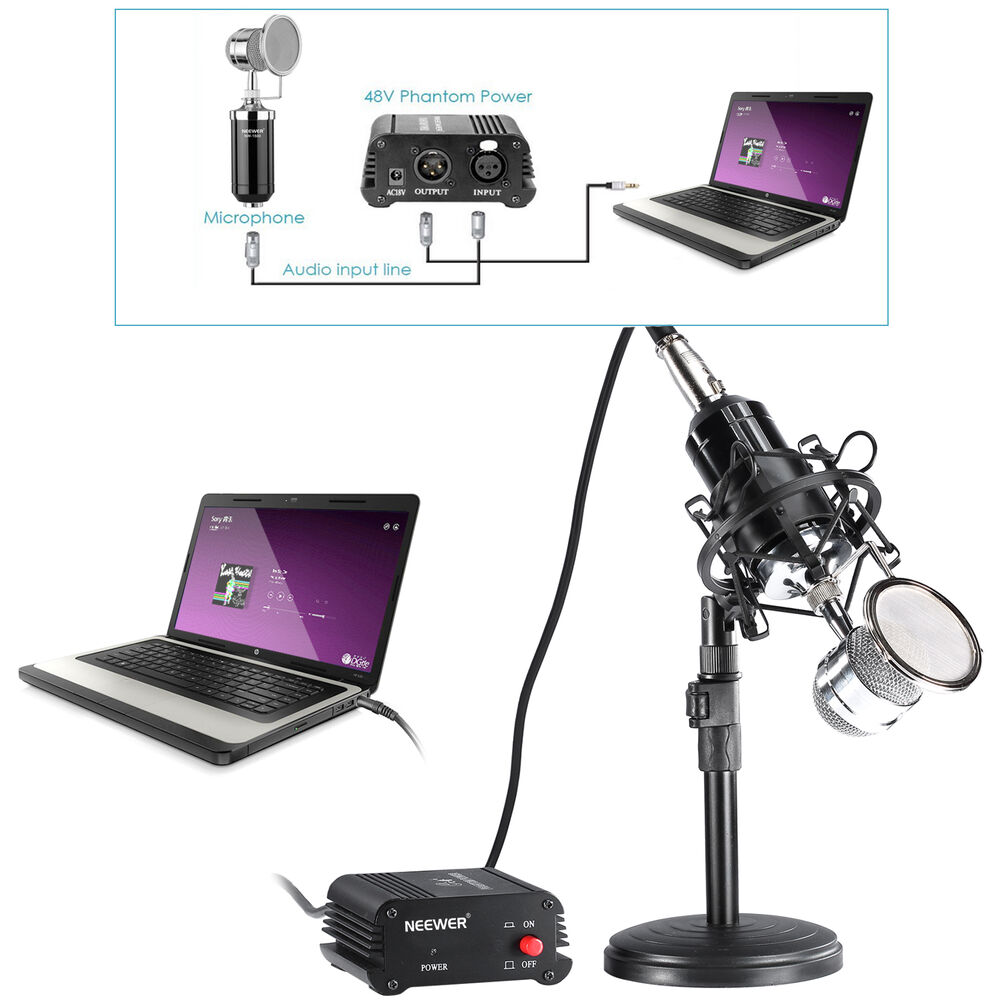 Neewer NW-1500 Desktop Condenser Microphone and 48V ...