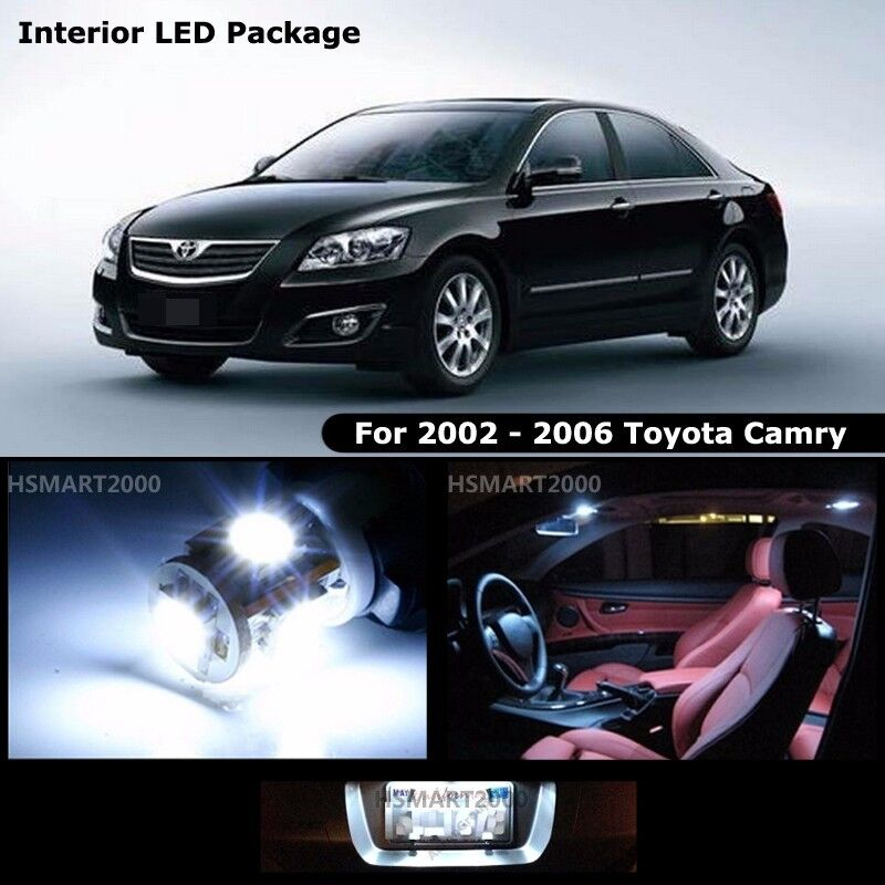 10pcs cool white interior led bulbs package kit for 2002 2006 toyota camry ebay. Black Bedroom Furniture Sets. Home Design Ideas