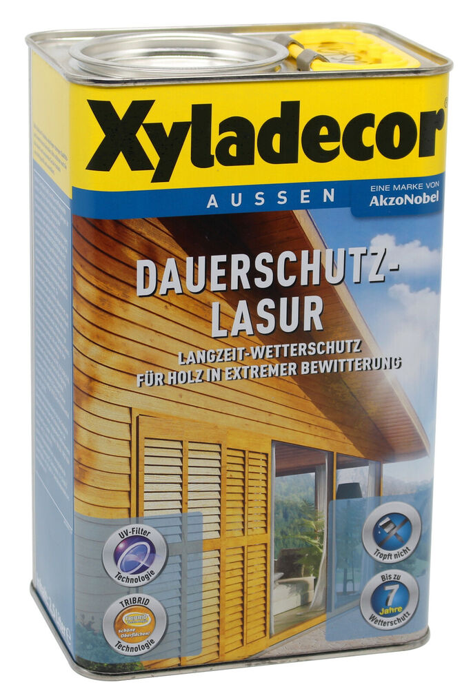 die ganz neue xyladecor dauerschutzlasur farblos 2 5l holzschutz holzlasur lasur ebay. Black Bedroom Furniture Sets. Home Design Ideas