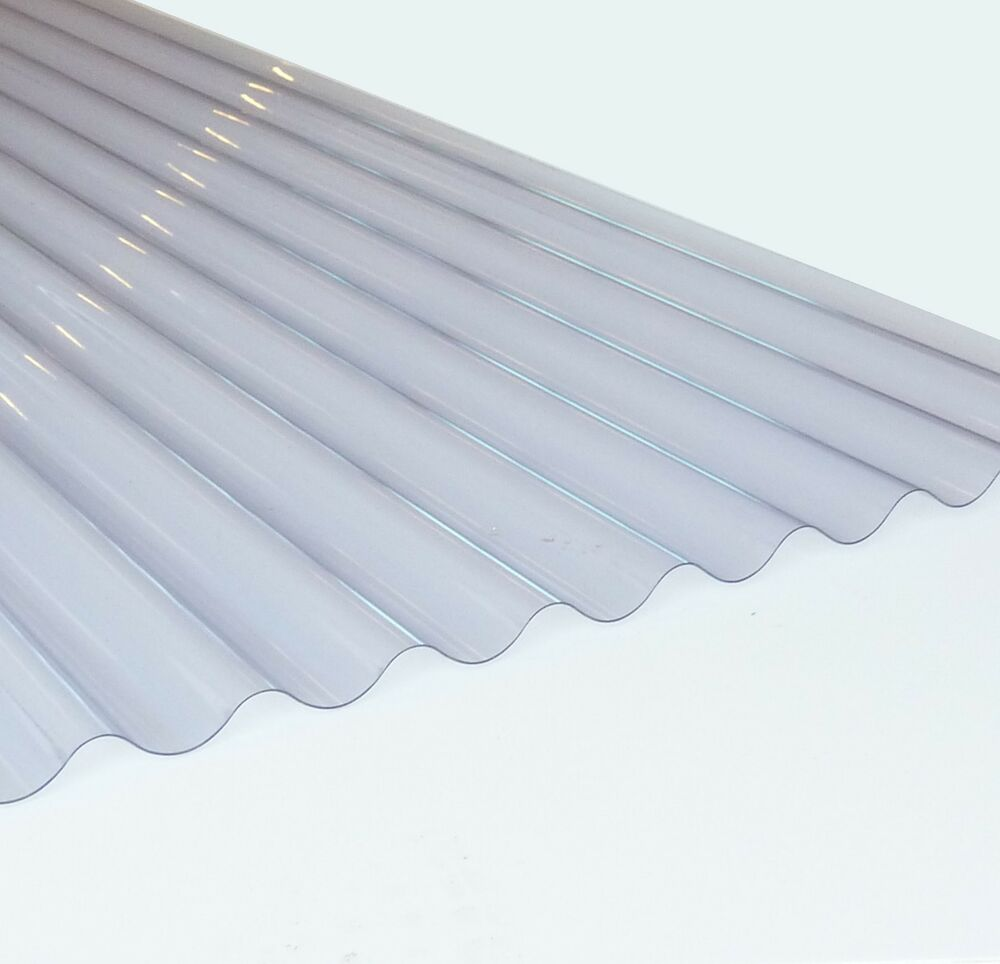 Plastic Corrugate Roofing Sheet Clear 3inch Profile 0
