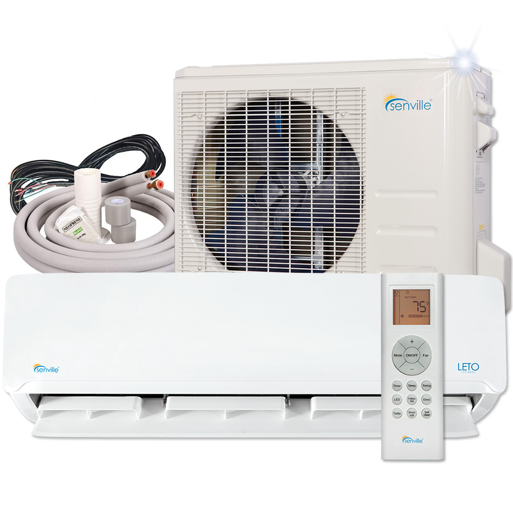 Central Air Conditioner Ratings And Reviews >> Senville 12000 BTU Ductless Air Conditioner with Mini ...