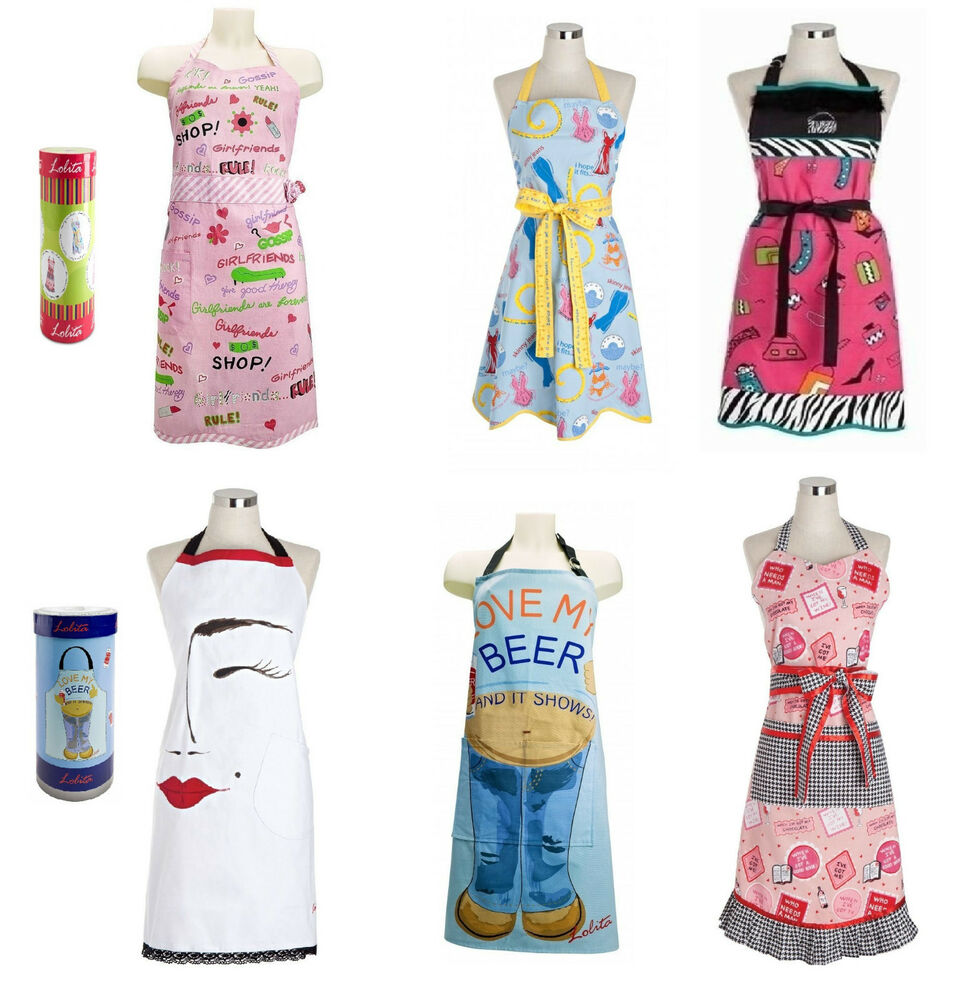 Lolita Novelty Designs Full Apron Kitchen Bbq Gift Party Ladies Cooking Present Ebay