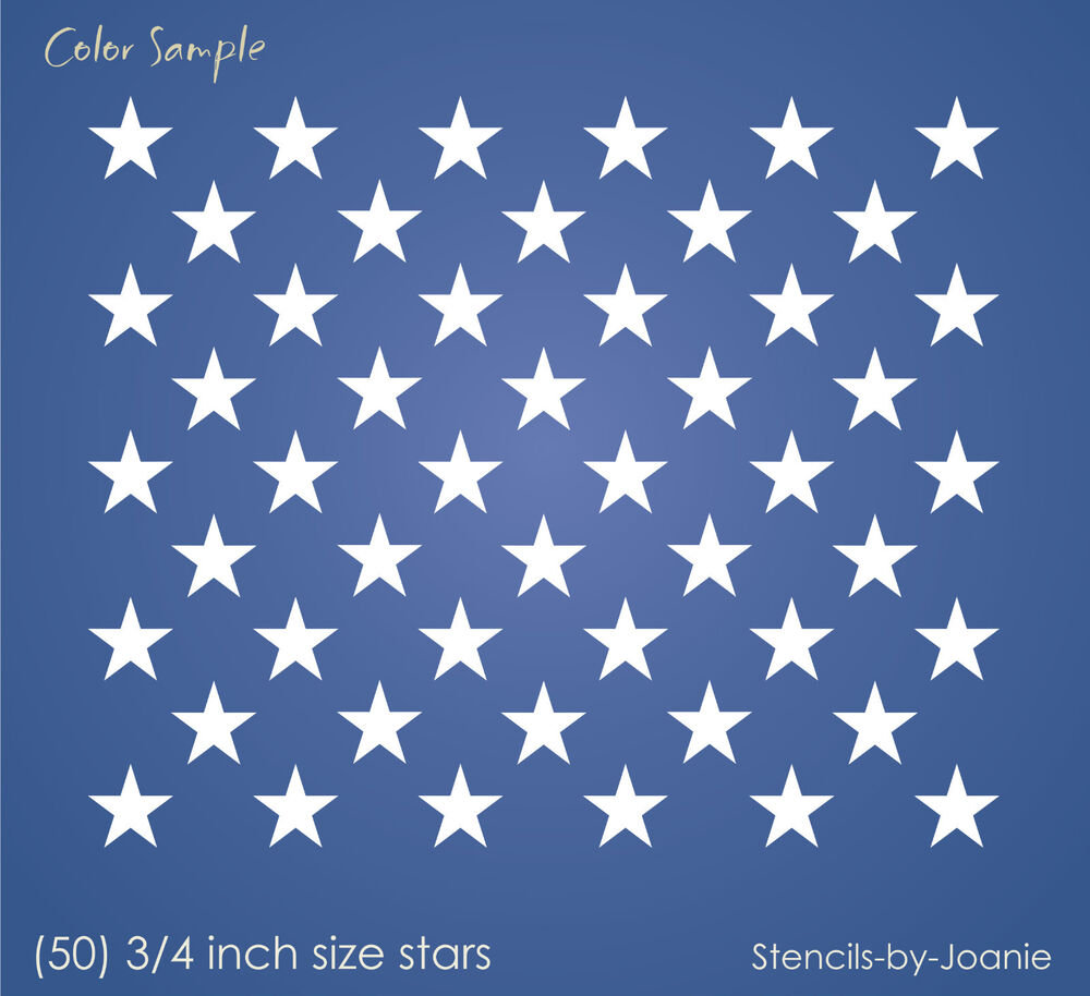 Luscious image with 50 star stencil printable
