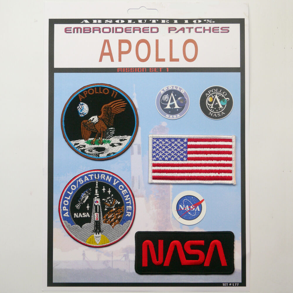 NASA APOLLO 11 / Saturn V Mission Crew Patch Set - Iron-On ...