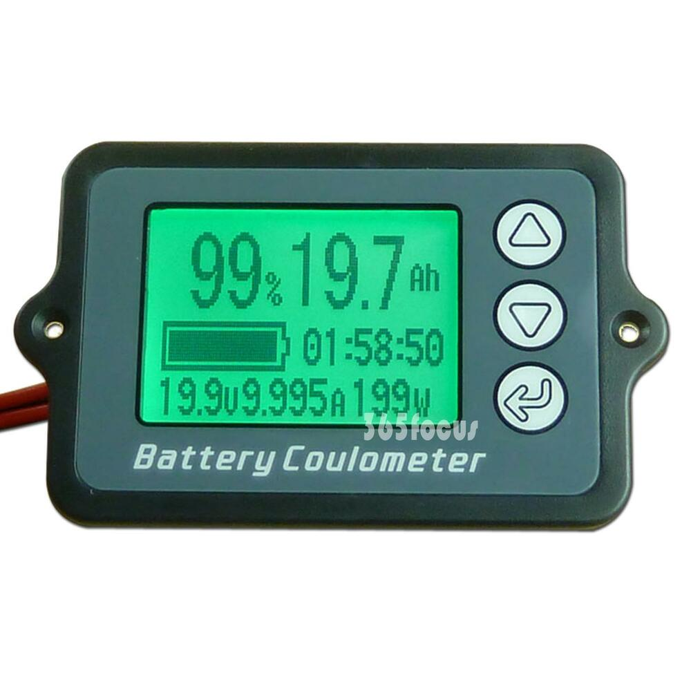 Battery 24 Volt Hour Meter : Dc  volt watt ampere hour digital