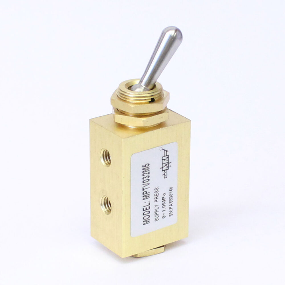 Air Toggle Switch : Pc way pos switch toggle valve m detented miniature