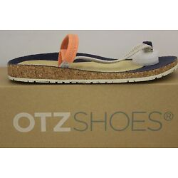Kyпить Unisex OTZ Shoes Diana Coarse Linen Navy/Natural/Coral 4602-NVYNC Brand New  на еВаy.соm