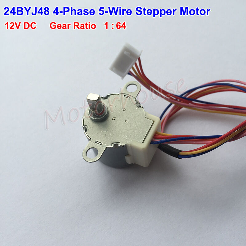 Gear stepper motor 24byj48 dc 12v 4 phase 5 wire geared for 12v dc servo motor