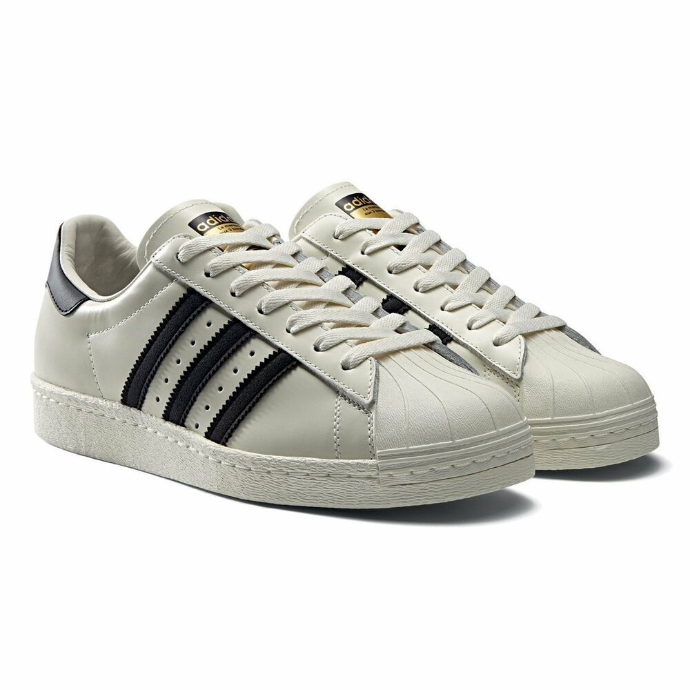 adidas originals superstar 80s deluxe mens shoes size us 13 vintage white b25963 ebay. Black Bedroom Furniture Sets. Home Design Ideas