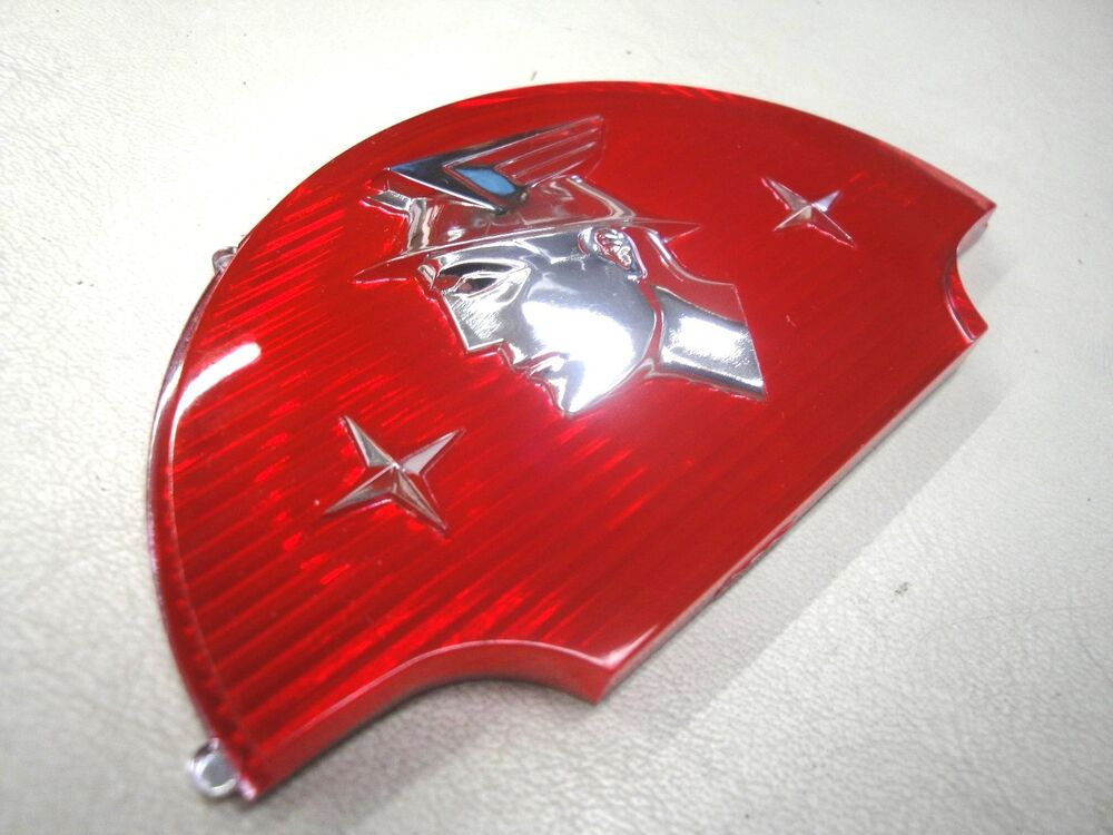 1953 1954 53 54 Mercury Monterey Trunk Crest Red Plastic