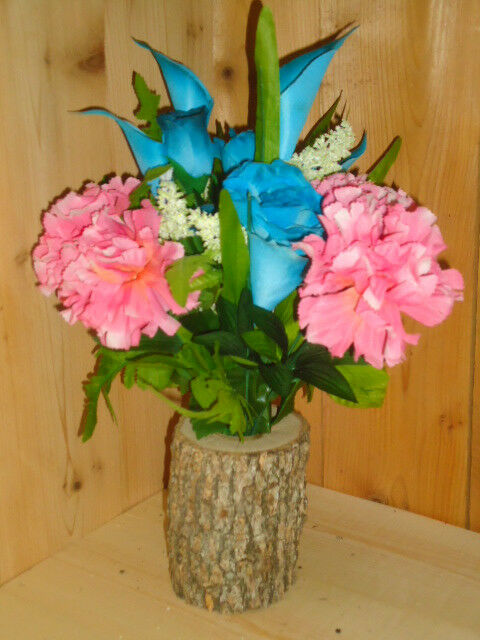 Log Vase Centerpiece : Tree vases log vase centerpiece rustic wedding