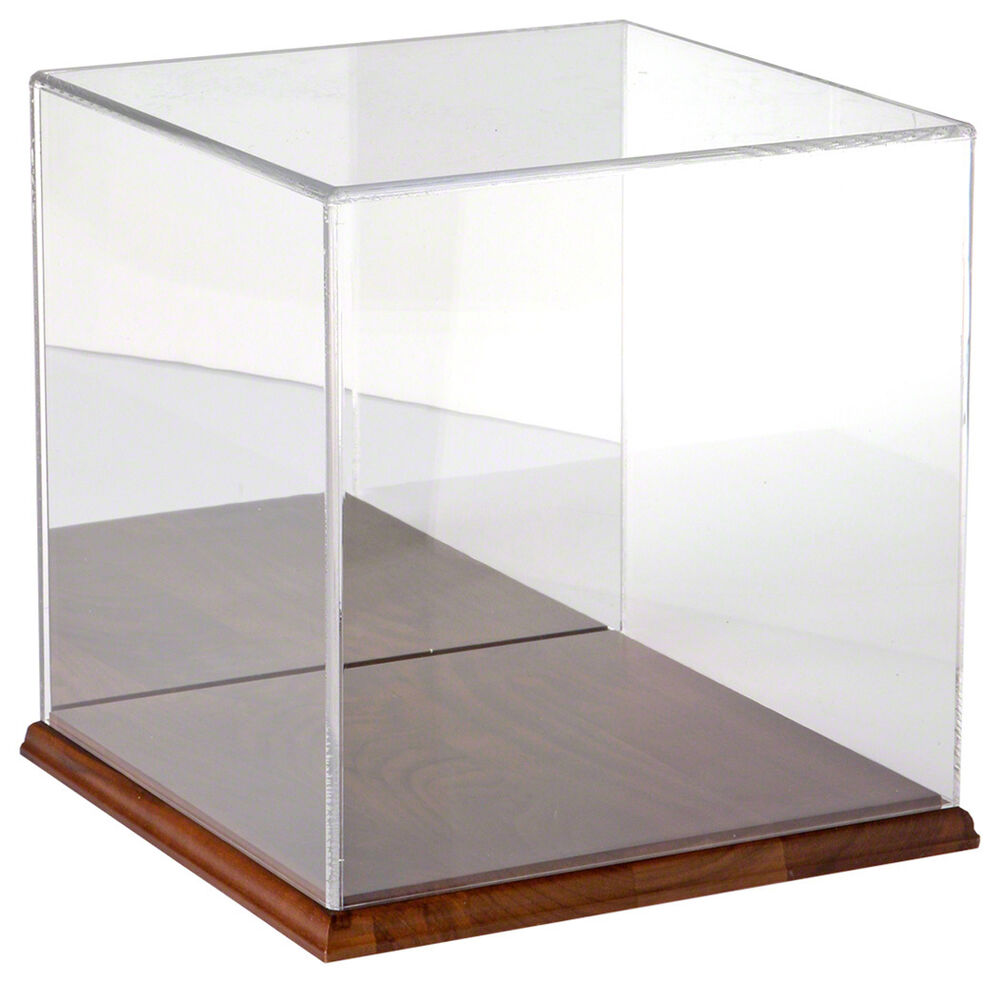 Plymor Brand Clear Acrylic Display Case with Hardwood Base ...