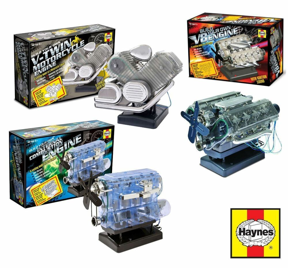 Motorcycle Engine Kits : New build your own haynes engine model kit internal