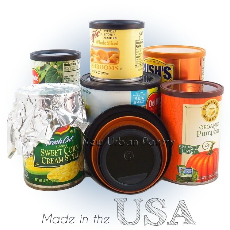 Pantry Lids Reusable Plastic Tin Can Covers Couvercles For