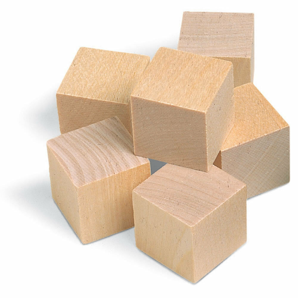 Wooden Blocks For Crafts ~ Quot square blocks unfinished craft wood cube
