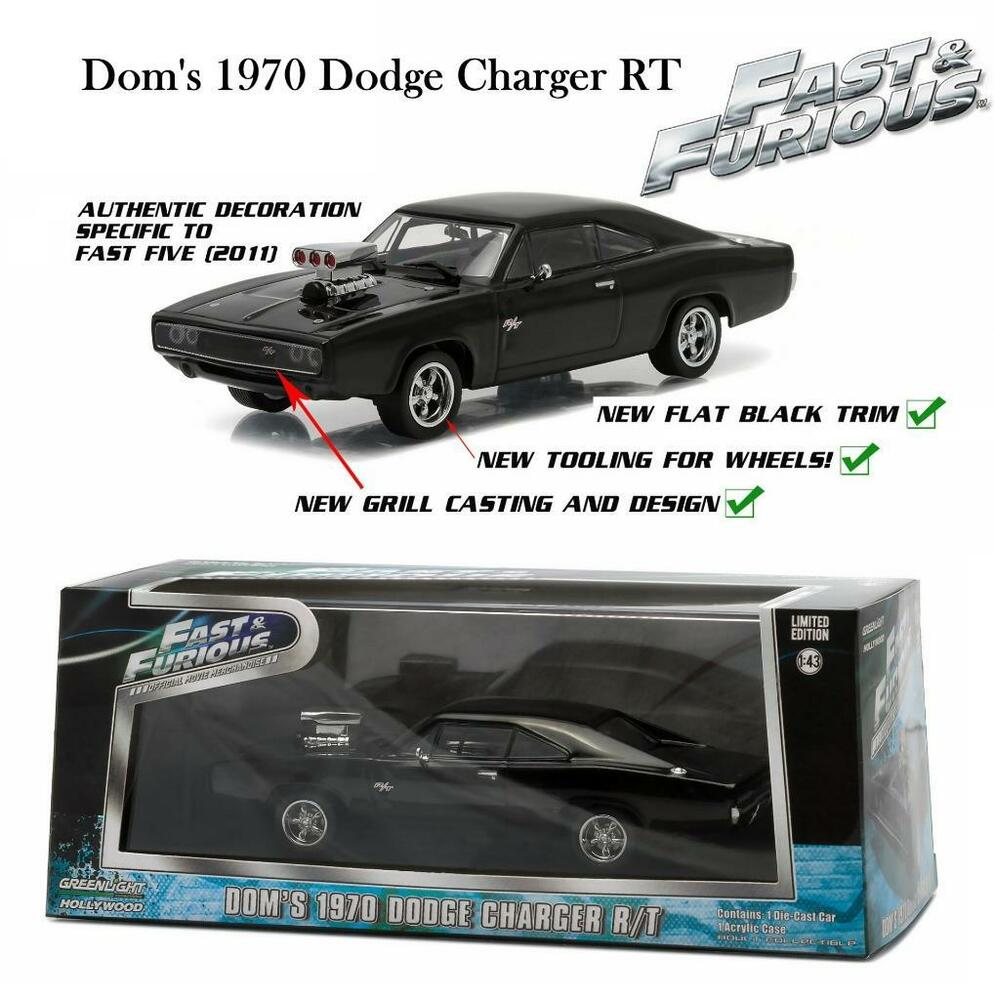 GREENLIGHT FAST AND FURIOUS 5 DOM'S 1970 DODGE CHARGER RT