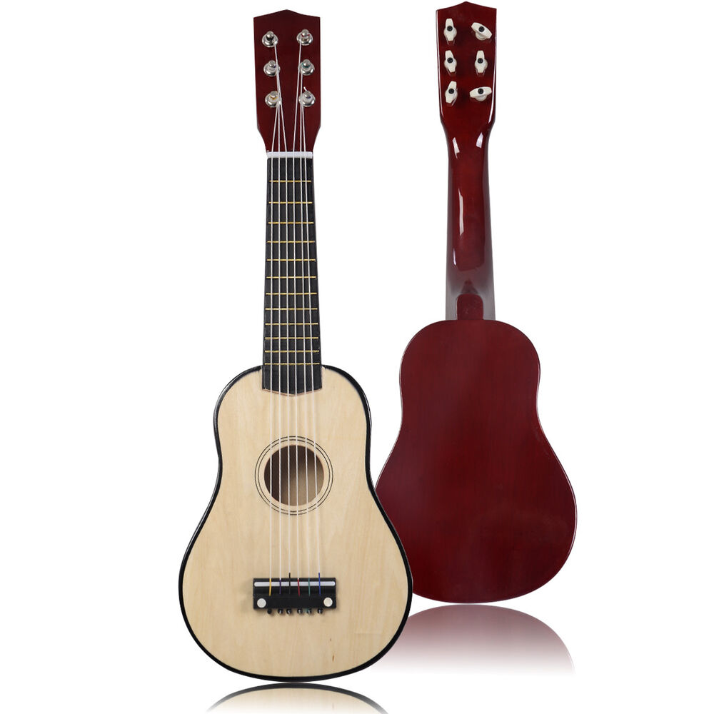 new 25 beginners kids acoustic guitar 6 string with pick children kids gift ebay. Black Bedroom Furniture Sets. Home Design Ideas
