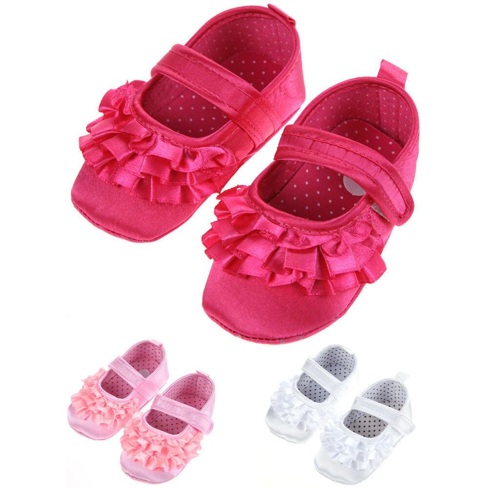 Mary Jane Infant Baby Girl Soft Sole Crib Shoes Newborn