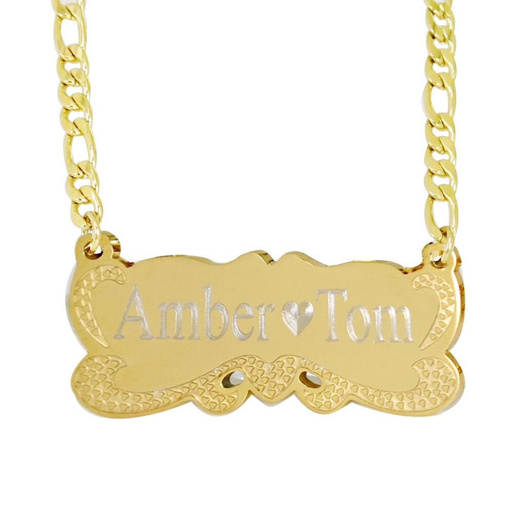 your name necklace personalized gold plated custom jewelry
