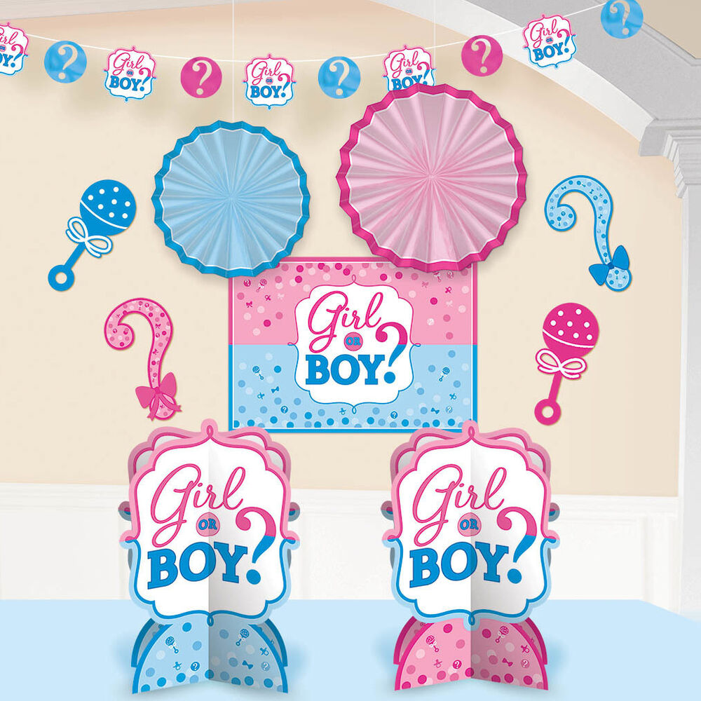 girl or boy 39 baby shower gender reveal decorating party kit ebay