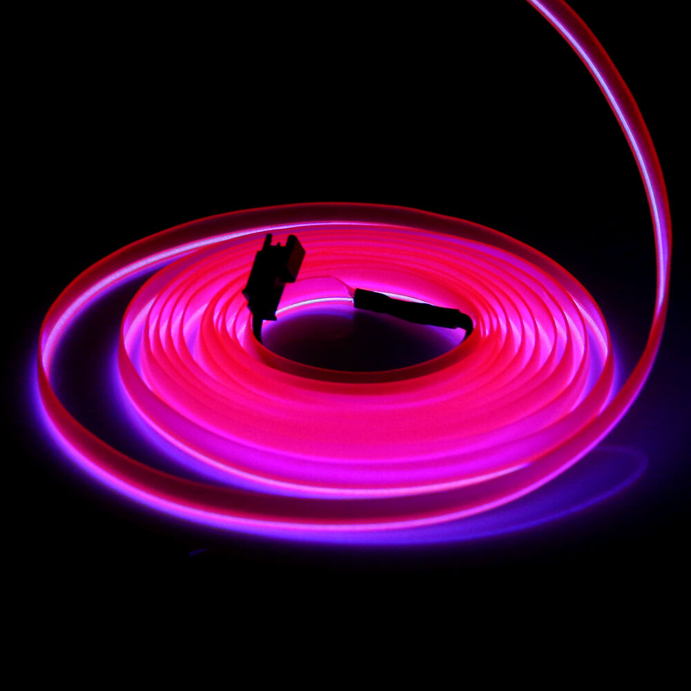 V m flexible electroluminescent tape el wire glow neon