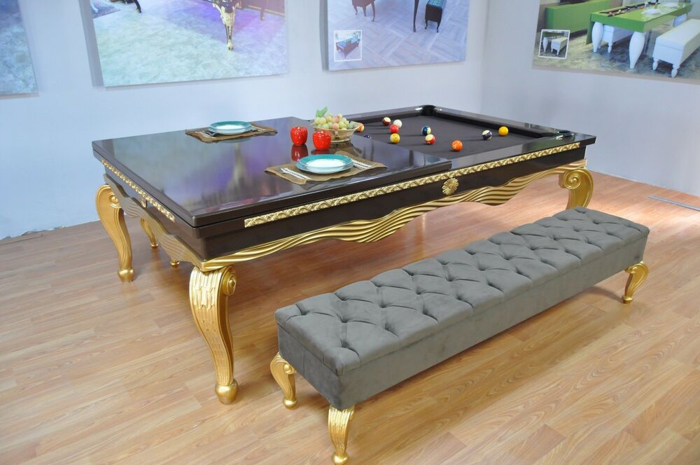 pool dining convertible billiards table ebay. Black Bedroom Furniture Sets. Home Design Ideas