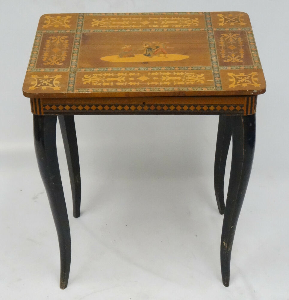 INTRICATE ITALIAN INLAID MARQUETRY TABLE WITH SWISS  : s l1000 from www.ebay.com size 640 x 480 jpeg 50kB