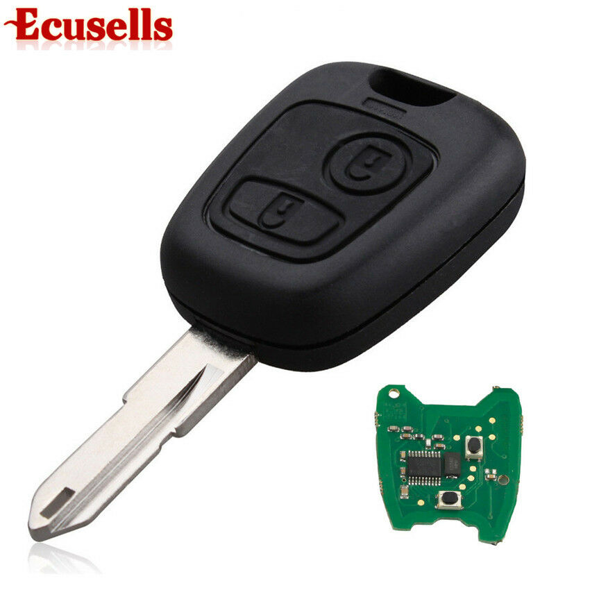 for peugeot 206 306 405 transponder key with pcb battery with id 46 chip 433mhz ebay. Black Bedroom Furniture Sets. Home Design Ideas