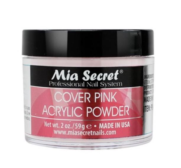 Mia Secret 2 OZ Acrylic PINK COVER Powder USE ON Nail Bed