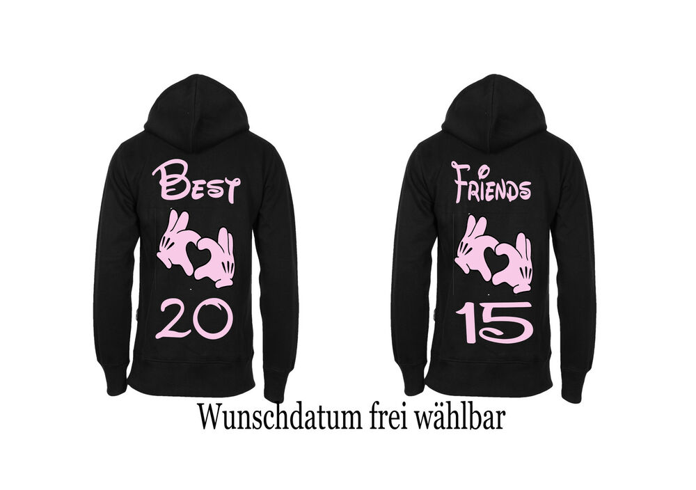 best friends pullover hoodie partner look 2 st ck p rchen. Black Bedroom Furniture Sets. Home Design Ideas
