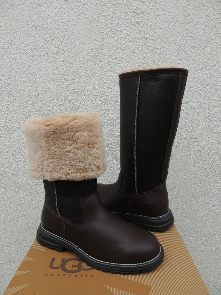 ugg shearling lined leather boots