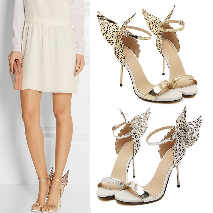 chic butterfly wings high heels women sophia vampire diaries party sandal shoes ebay. Black Bedroom Furniture Sets. Home Design Ideas