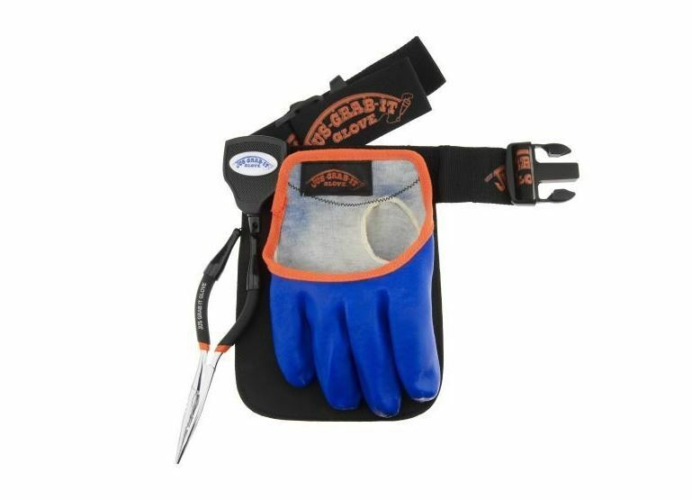 New jus grab it fishing utility belt gloves pliers fly for Fly fishing gloves