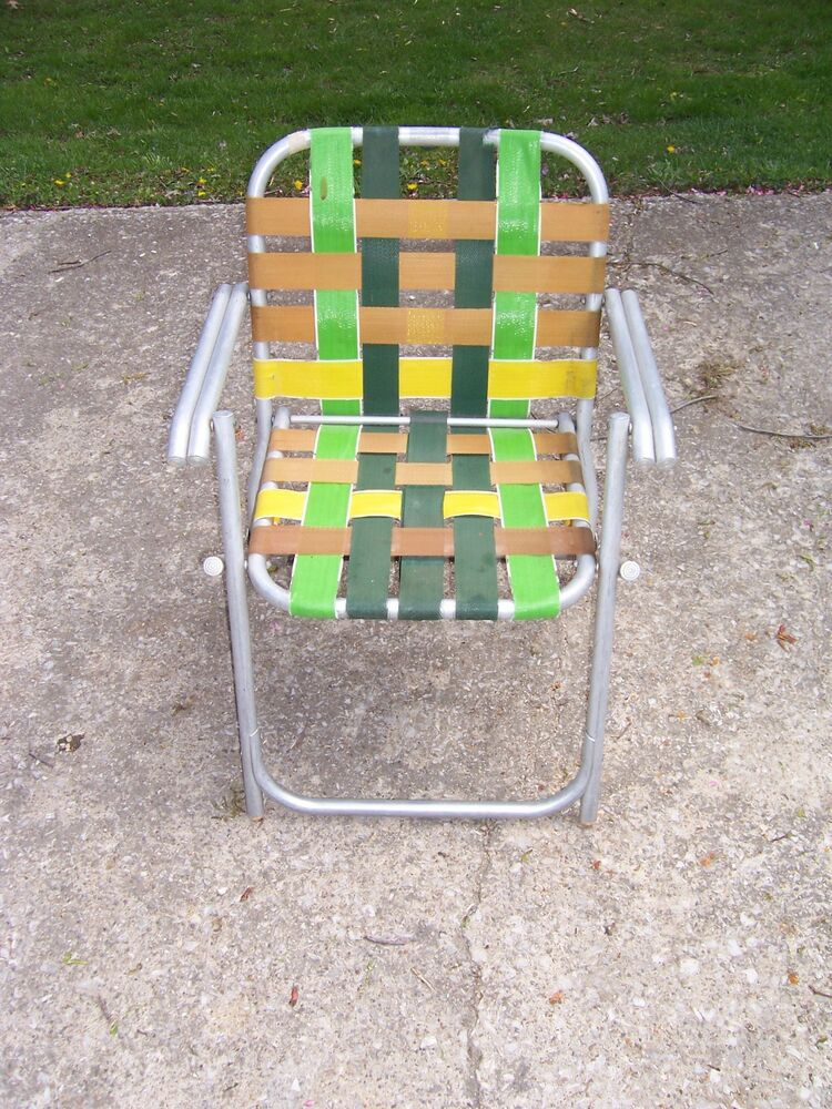 Aluminum Webbed Lawn Chairs