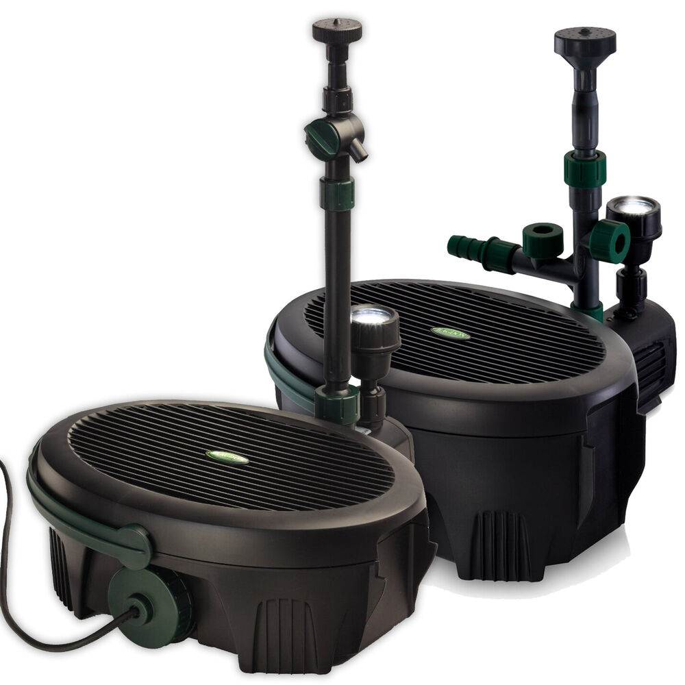 Blagdon inpond 5 in 1 6 in 1 pond pump filter uvc led for Outdoor fish pond filters and pumps