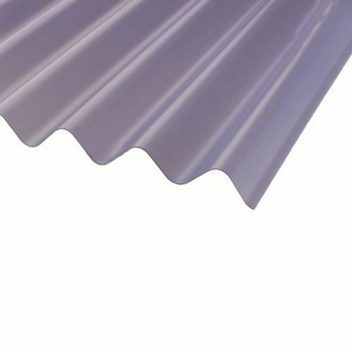 Pvc Corrugated Sheet 3inch Profile 0 8mm Lightweight Clear