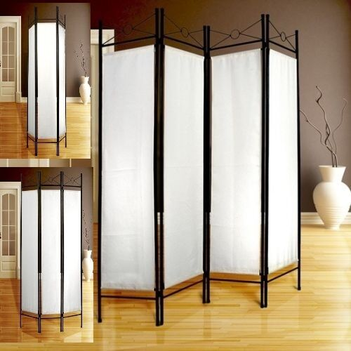 White Folding Room Divider Screen Furniture Separator Privacy Dressing Partit
