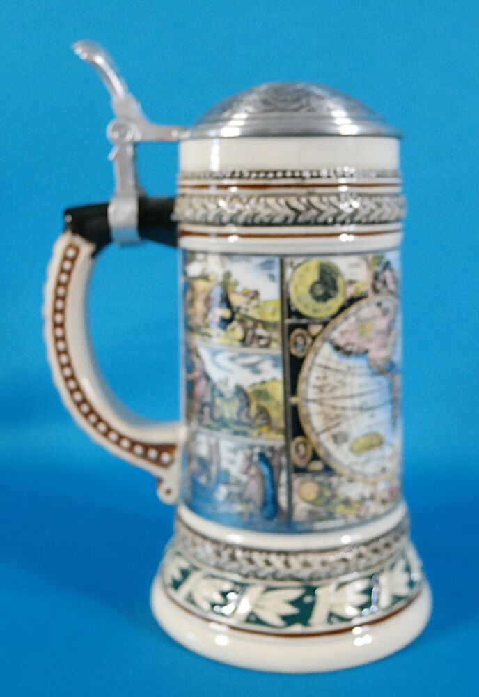 Vintage Gerz German Collectible Stein With Pewter Lid 8 1