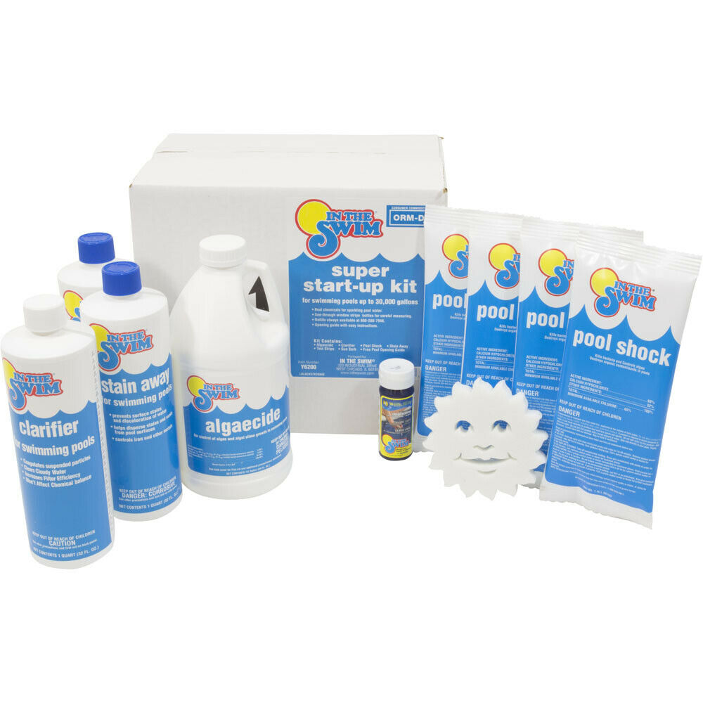 In the swim super start up chemical kit for swimming pools up to 30000 gal ebay for Chemicals needed to close swimming pool