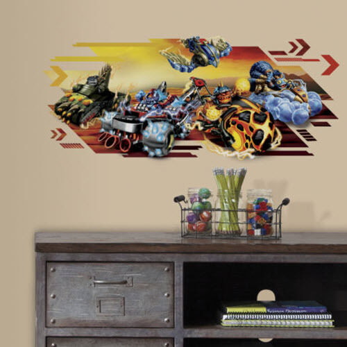 Skylanders superchargers wall sticker 1 decal mural video for All room decoration games