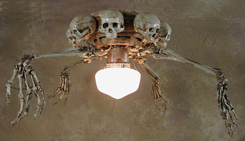 Skeleton Arm Ceiling Fan W Skulls Halloween Prop Human Skeletons Ebay