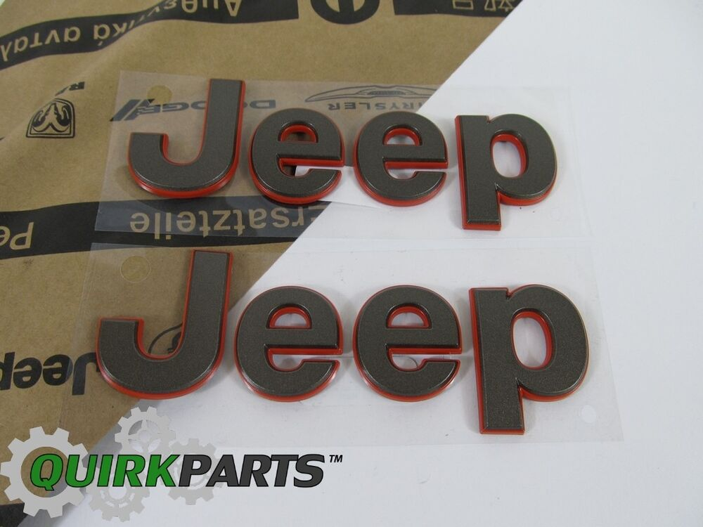 2016 Jeep Patriot Accessories >> 16-17 JEEP WRANGLER 75TH BRONZE JEEP EMBLEM NAMEPLATE BADGES NEW MOPAR GENUINE | eBay