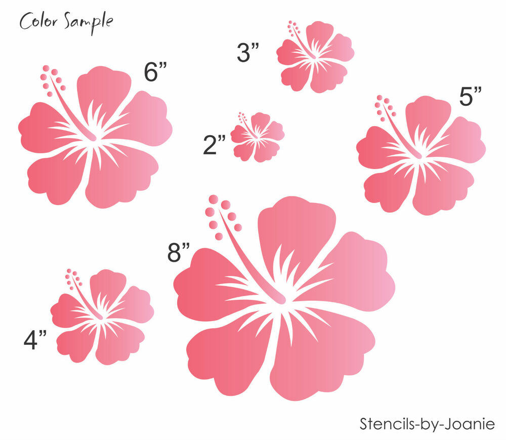 Joanie stencil hibiscus tropical flower floral crafts aloha beach joanie stencil hibiscus tropical flower floral crafts aloha beach decor art sign ebay izmirmasajfo